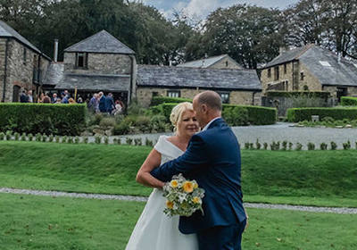 Married Couple At Cornish Wedding  venue